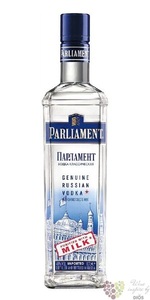 Parliament premium milk filtered Russian vodka 40% vol.  1.00 l