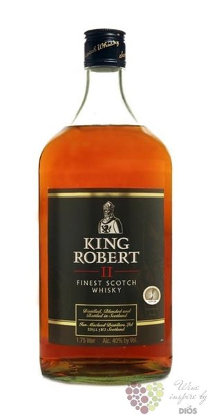 King Robert II blended Scotch whisky by Ian MacLeod 43% vol.  1.50 l