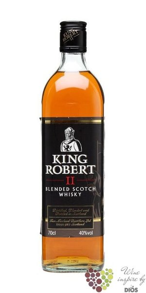 King Robert II blended Scotch whisky by Ian MacLeod 43% vol.    1.00 l