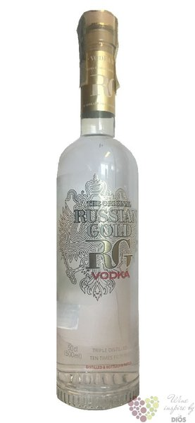 "Russian Gold "" Russkoe Zoloto "" premium Russian vodka 40% vol.    0.50 l"