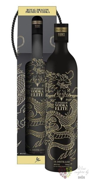 "Royal Dragon "" Elite "" luxury Russian vodka 40% vol.  0.70 l"