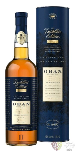 "Oban 2001 "" the Distillers edition "" Montilla Fino finish Highland whisky 43% vol.  0.70 l"