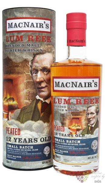 MacNairs Lum Reek Peated aged 12 years blended malt Scotch whisky 46% vol.  0.70 l