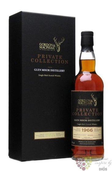 "Glen Mhor 1966 "" Gordon & MacPhail reserve "" aged 44 years Highlands whisky 52.1% vol.   0.70 l"