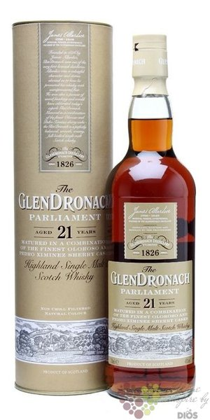 "GlenDronach "" Parliament "" aged 21 years single malt Highland whisky 48% vol. 0.70 l"