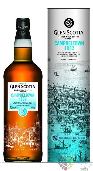 "Glen Scotia "" Campbeltown 1832 "" Campbeltown single malt whisky 46% vol.  1.00 l"