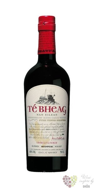 Té Bheag unchilfiltered blended Gaelic Scotch whisky 40% vol.   0.70 l