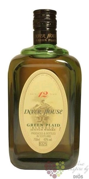 Green Plaid 12 years old premium blended Scotch whisky by Inverhouse 40% vol.  0.70 l