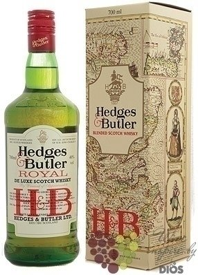 "Royal De Luxe aged 5 years "" Hedges & Butler "" Blended Scotch whisky Ian Macleod 40% vol.    0.7"