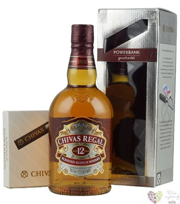 "Chivas Regal "" Powerbank set "" aged 12 years Scotch whisky 40% vol.  0.70 l"