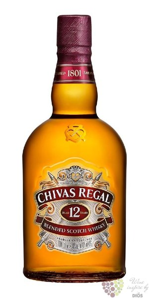 Chivas Regal 12 years old premium blended Scotch whisky 40% vol.  1.00 l