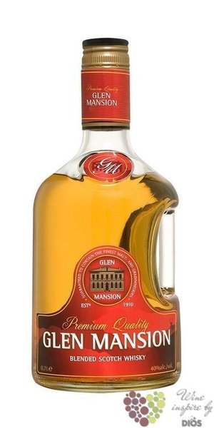 Glen Mansion premium blended Scotch whisky 40% vol.  0.70 l
