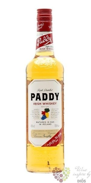 Paddy old Irish blended whiskey 40% vol.    0.70 l