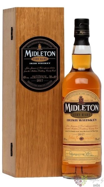 "Midleton 2017 "" Very rare "" premium pure pot still Irish whiskey 40% vol.   0.70 l"