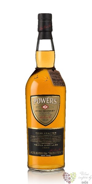 "Powers "" Gold label "" blended Irish triple distilled whiskey 43.2% vol.  0.70 l"