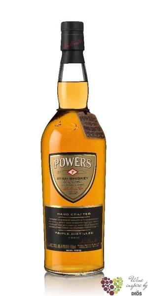 "Powers "" Gold label "" blended Irish triple distilled whiskey 43.2% vol.  1.00 l"