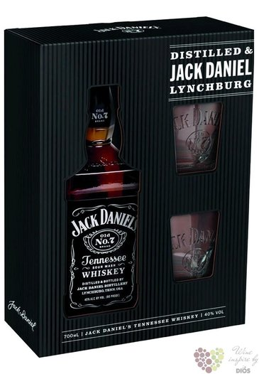 "Jack Daniel´s "" Black label "" 2glass set ed. 2016 Tennessee whiskey 40% vol.  0.70 l"