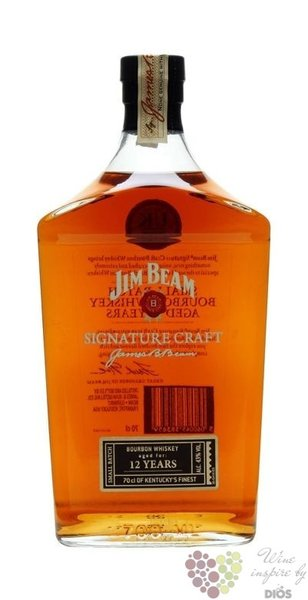"Jim Beam "" Signature Craft "" aged 12 years small batch bourbon whiskey 43% vol.1.00 l"