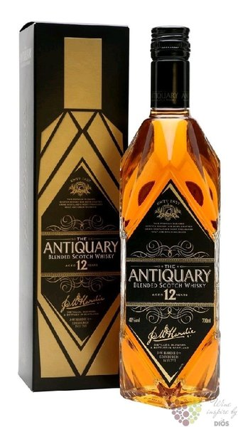 "the Antiquary "" Superior de Luxe "" 12 years old blended Scotch whisky 40% vol.0.70 l"