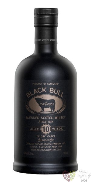 "Black Bull "" Retro "" blended malt Scotch whisky by Duncan Taylor 50% vol. 0.70 l"
