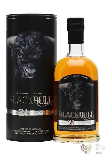 Black Bull 21 years old blended malt Scotch whisky by Duncan Taylor 50% vol. 0.70 l