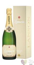 """Lanson blanc """" Ivory Label  """" Demi sec gift box Champagne Aoc     0.75 l"""