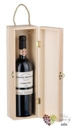 Dřevěná krabička otvírací na 1 lahev typu Bordeaux