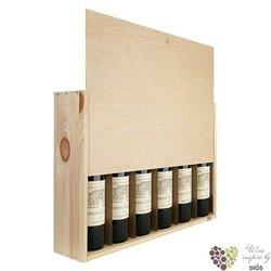 Dřevěná kazeta s posuvným víkem na 6 lahví typu Bordeaux