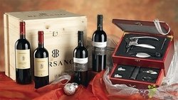 "Bersano "" Collection sommelier "" luxury wood box     4 x 0.75 l"