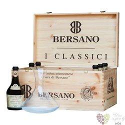 "Bersano "" Collection carafe "" luxury wood box    6 x 0.50 l"
