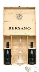 "Bersano "" Collection decanter "" luxury wood box     2 x 0.75 l"