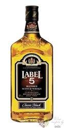 "Label 5 "" Classic Black "" finest blended Scotch whisky 40% vol.   0.70 l"