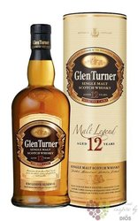 "Glen Turner "" Malt legends "" aged 12 years single malt Scotch whisky 40% vol.  0.70 l"