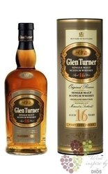 "Glen Turner "" Original Reserve ""aged 16 years single malt Scotch whisky 40% vol.   0.70 l"