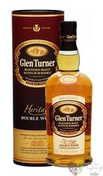 "Glen Turner "" Heritage double woods "" pure malt Scotch whisky 40% vol.   0.70 l"