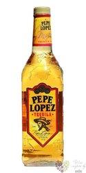 "Pepe Lopez "" Gold "" original Mexican mixto tequila 38% vol.  1.00 l"