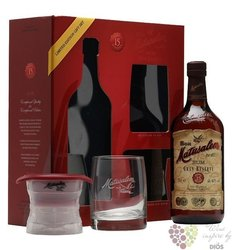 """Matusalem """" Gran reserva """" aged 15 years gift pack Cuban rum 40% vol.  0.70 l"""