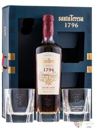 "Santa Teresa "" Solera 1796 "" Glass set aged rum of Venezuela 40% vol.  0.70 l"