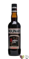 "Sambuca "" Caffe "" Italian anise liqueur by Molinari 40% vol.  0.70 l"