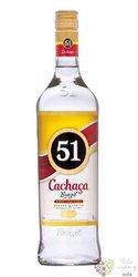 """51 Pirassununga """" Silver """" sugar cane Brasilian cachaca 40% vol.    1.00 l"""