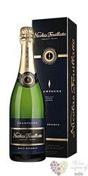 """Nicolas Feuillatte blanc """" Réserve Particuliére """" brut gift box Champagne Aoc 0.75  l"""