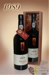 Cruz 1989 vintage Porto Do 19% vol.  0.75 l