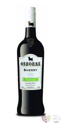 "Sherry de Jerez "" Cream "" Do sweet by Osborne winery 15% vol.   0.75 l"