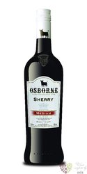 "Sherry de Jerez "" Amontillado "" Do medium dry Osborne 15% vol.  0.75 l"
