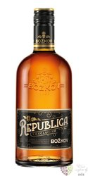 "Božkov "" Republica Exclusive "" mixed caribbean rum 38% vol.  0.70 l"