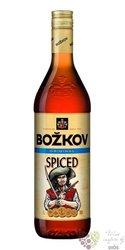 "Božkov "" Spiced "" flavored caribbean rum by Stock 30% vol.  1.00 l"