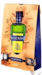 "Becherovka "" Original "" since 1807 2glass pack Jan Becher 38% vol.     0.70 l"