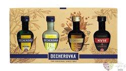 Jan Becher � Collection � set of Jan Becher mini bottles 38% vol.    6 x0.05 l