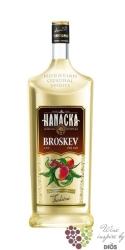 """Hanácká """" Broskev """" Moravian peach vodka Starorežná Prostějov 16% vol.    1.00 l"""