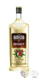 """Hanácká """" Broskev """" Moravian peach vodka Starorežná Prostějov 16% vol.    0.50 l"""